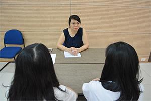 Nữ sinh Merali trải nghiệm phỏng vấn tuyển dụng